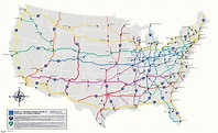 Map of US Interstate Highways : MapPorn