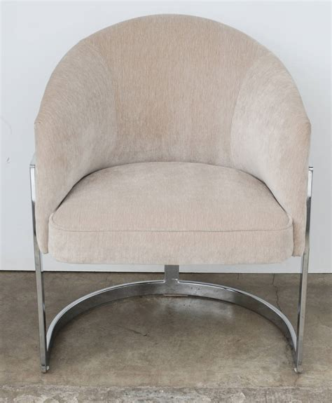set of four milo baughman curved t back dining chairs image 8