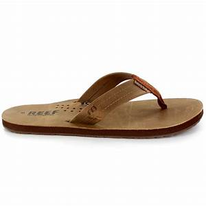 Mens Reef Smoothy Leather Surfing Summer Surf Flip Flops ...