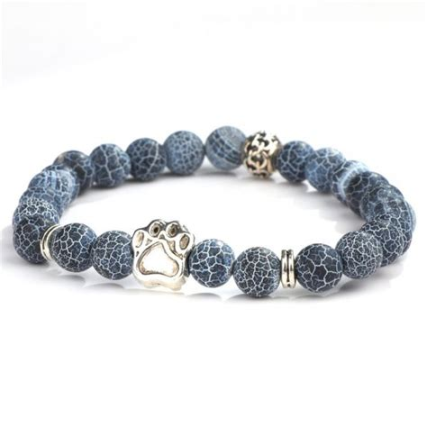 Hot Selling Natural Stone Mala Bead Yoga Bracelet Pitbull ...