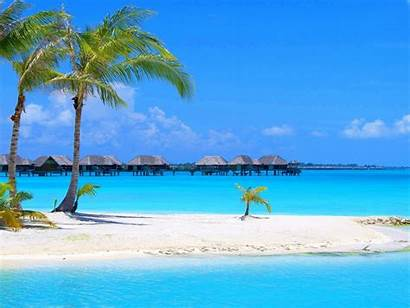 Beach Backgrounds Beaches Wallpapers Scenes Island Tropical