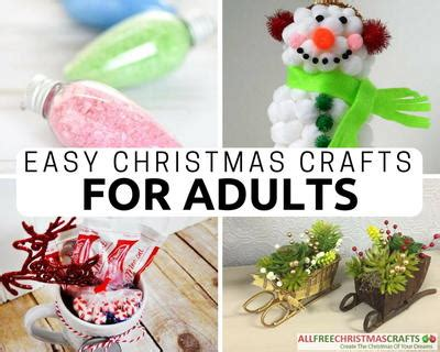 crafts for christmas decorations 36 really easy christmas crafts for adults