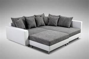 Couch Mit Großer Liegefläche : modernes sofa couch ecksofa eckcouch in weiss eckcouch mit hocker minsk r kaufen bei kuechen ~ Bigdaddyawards.com Haus und Dekorationen