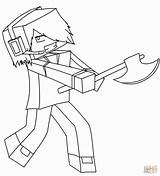 Minecraft Coloring Pages Dantdm Printable Getcolorings sketch template