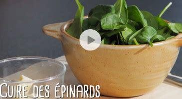 comment cuisiner des epinards frais epinards cuisson facile et rapide gourmand