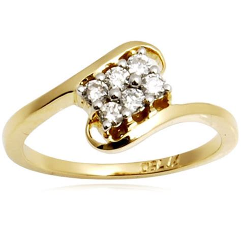 anniversary and engagement women s simple gold diamond
