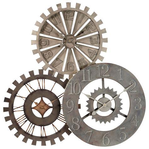 deco chambre fille vintage horloge en métal d 92 cm rouages maisons du monde