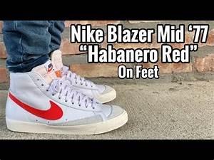 """Nike Blazer Mid 77 Vintage """"Habanero Red"""" on Feet - YouTube  Mid"""