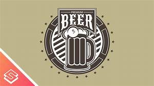 premium beer logo design in inkscape youtube With beer logo maker