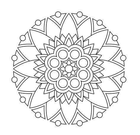 printable mandala abstract colouring pages