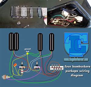 Four Humbuckers Pickup Wiring Diagram
