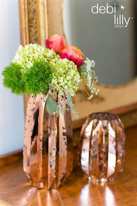 these shiny golden debi lilly design vases will effortlessly create a sophisticated fall look
