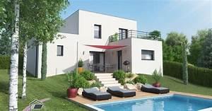 Toiture Terrasse Accessible : maison toit plat avec toiture terrasse accessible ~ Dode.kayakingforconservation.com Idées de Décoration