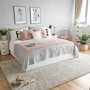 Housse De Couette Rose Gold : grey pink rose gold bedroom i like the greenary l gant de chambre cocooning ado ~ Teatrodelosmanantiales.com Idées de Décoration