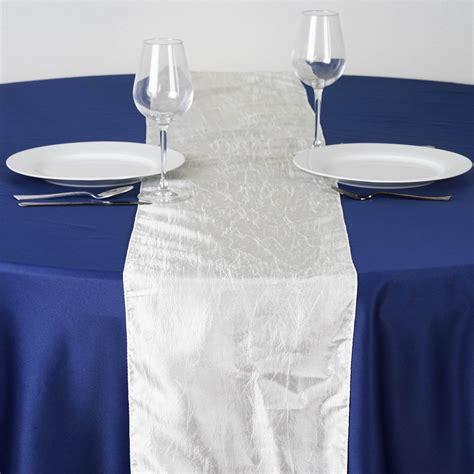 """12"""" X 108"""" Taffeta Crinkle Table Top Runner Linens Wedding"""