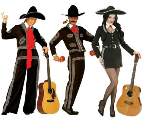 Mexican Mariachi Costume Adult Mens Ladies Girls Day of the Dead Fancy Dress | eBay