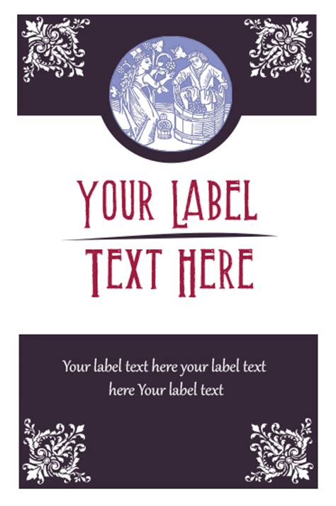 beer bottleneck label powerpoint template best photos of personalized wine label template free