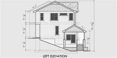 craftsman duplex house plans sloping lot duplex house plans