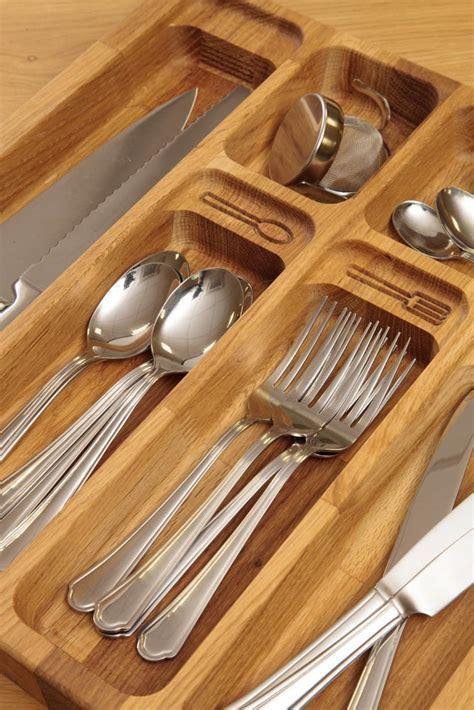 Oak Solid Wood Cutlery Drawer Inserts   Worktop Express