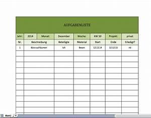 Mehrwertsteuer In Excel Berechnen : aufgaben liste todo list kostenlos excel vorlagen f r jeden zweck ~ Themetempest.com Abrechnung