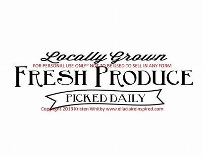 Produce Sign Fresh Garden Template Claire Daily