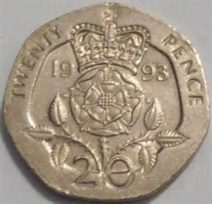 Twenty Pence British Coin