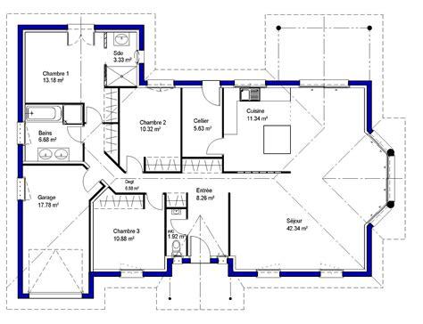 plan maison etage 3 chambres gratuit maisons lara