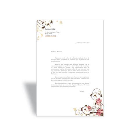 lettre de motivation type format word open office 224 t 233 l 233 charger