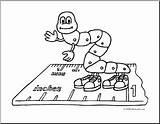 Inchworm Coloring Cartoon Clip Abcteach Inch Worm Clipart sketch template