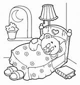 Coloring Night Pages Bear Sleep Teddy Starry Tight Bed Template Getcolorings Printable Sky Getdrawings Sheets Coloringsky Colorings sketch template