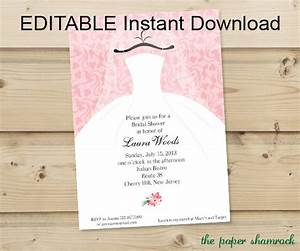 editable instant download bridal shower invitation With edit photo wedding invitations
