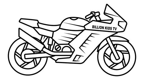 drawing sport bike coloring  kids youtube