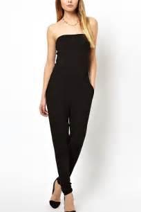 Black Stylish Strapless Jumpsuit