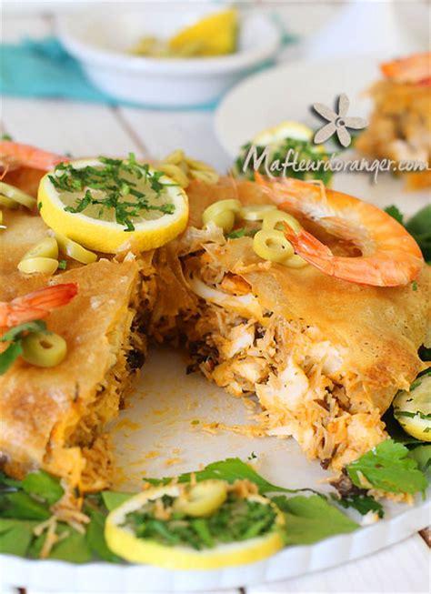cuisine marocaine pastilla pastilla au poisson et aux fruits de mer