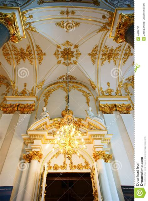 The Interior Decoration Of Winter Palace Stock Photo