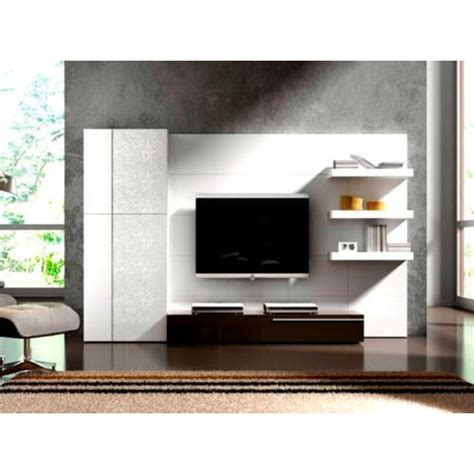 brown wood frame wall mounted led tv unit rs 750 square