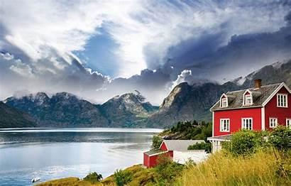 Norway Lake Landscape Fjord Mountains Telegram вконтакте