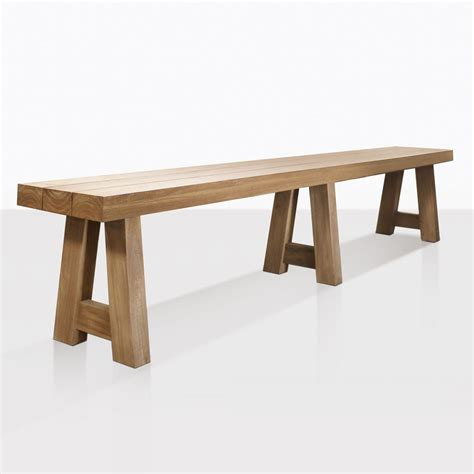 blok reclaimed teak bench outdoor benches patio dining