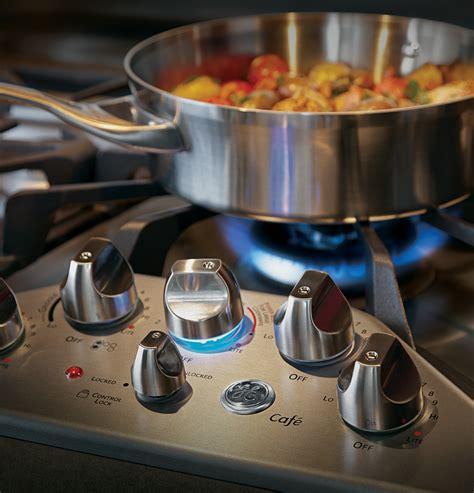 ge cafe series  built  gas cooktop cgpsetss ge appliances