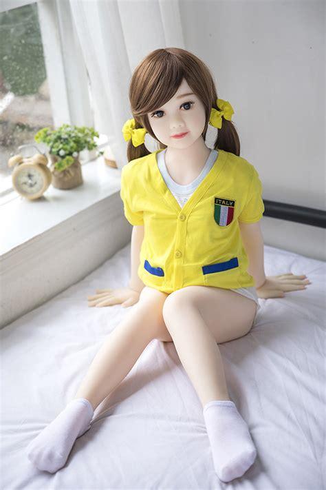 Flat Chest CM Black Big Eyes Japanese Style Sex Doll