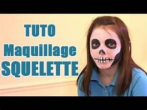 Maquillage D Halloween Pour Fille : carnaval faire un maquillage de squelette pour halloween youtube ~ Melissatoandfro.com Idées de Décoration