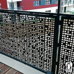 Brise Vue En Aluminium : brise vue t le perfor e en aluminium paisseur 3 mm ~ Edinachiropracticcenter.com Idées de Décoration