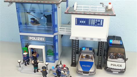 playmobil polizeistation  auspacken seratus alarm