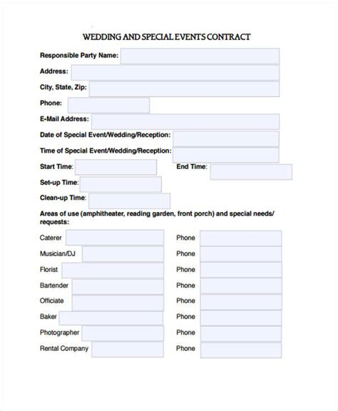 event contract templates sample word google docs