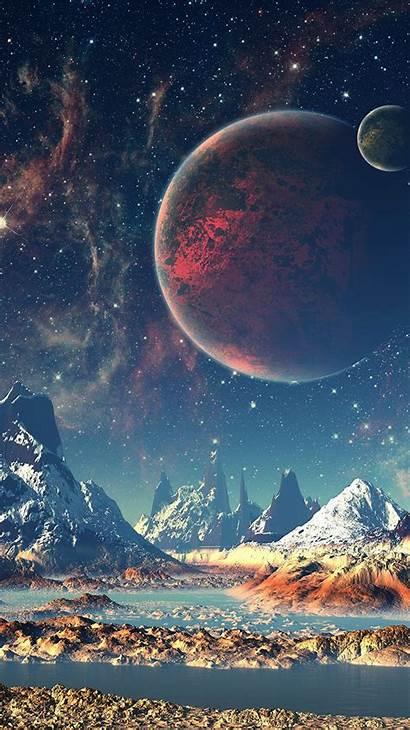 Sky Space Illustration Dream Star Mountain Aq10