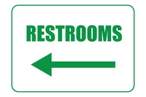 printable bathroom signs printable restroom signs with left arrows free