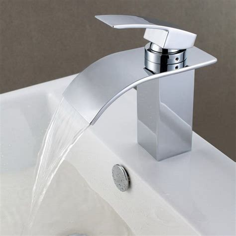 shop sumerain chrome  handle single hole bathroom faucet