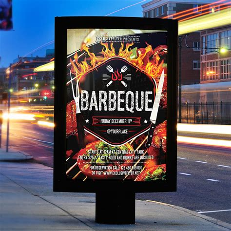 barbeque party premium flyer template facebook cover
