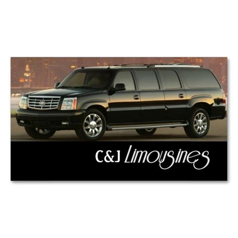 Limo Service Business by 17 Best Images About Limo Taxi Business Cards On