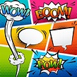 comic sound effect speech bubble pop art cartoon style ...